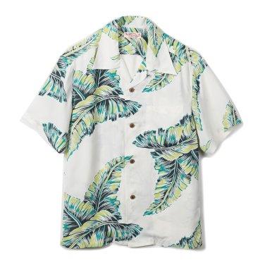 SUN SURF Island Five-Finger Rayon S/S Shirt White