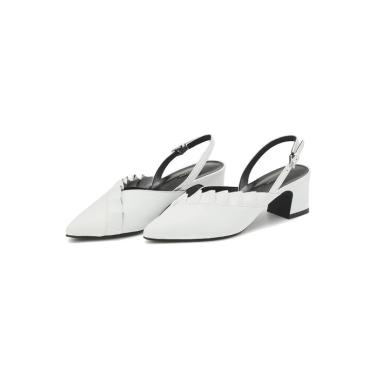 [질스튜어트뉴욕] 화이트 프릴장식 양가죽 슬링백 (굽높이: 5cm)JKSO9E271