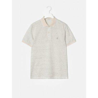 아이보리 딜라이트 리넨 칼라 티셔츠 (BC9342A200)