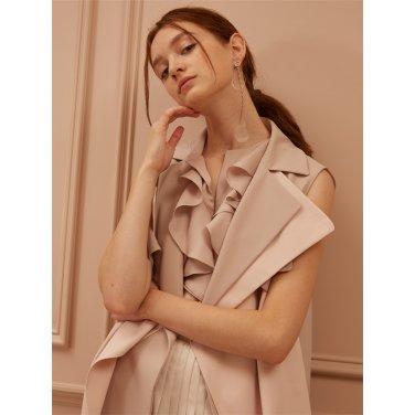 [까이에] Two-Tone Layered  Sleeveless Coat