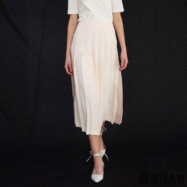 [모한] MOHAN TTS PLEATED TWO-TONE SKIRT _ 2 COLOR (MHTTSSK002)