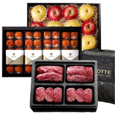 [롯데식품관] 설마중! 한우/사과배/과일 外 선물세트 모음전