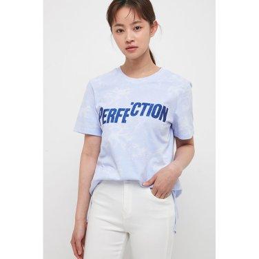 글리터 레터링 티셔츠 EK2ET406