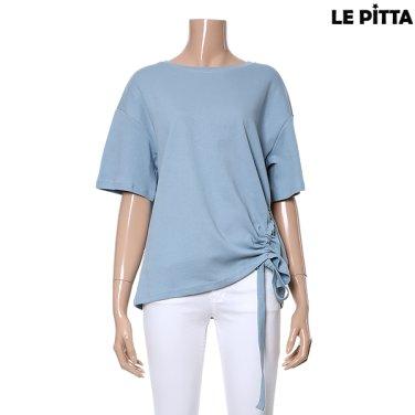 스트링 장식 티셔츠 L182UTS551
