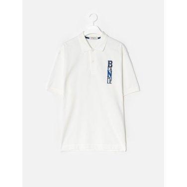 19FW  화이트 로고 자수 루즈핏 칼라 티셔츠(BC9642C301-)