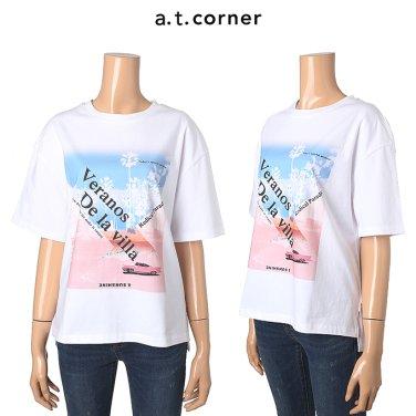 프린트 면 반팔 티셔츠 ATTS9B121