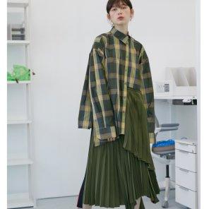 [테이즈][10/16 순차발송]Vannes Pleated Pannel Shirt _2 Color (19FWTAZE28E)