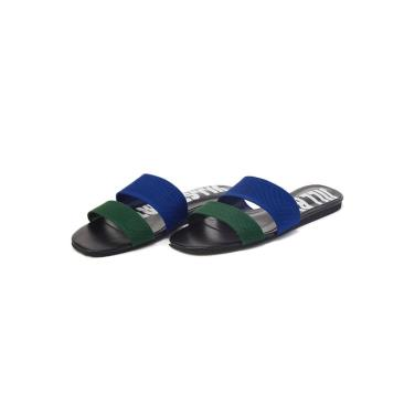 블루 라인배색 니트슬리퍼 FPSO9E007B2