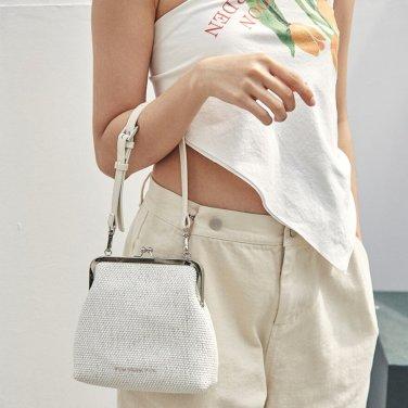 [펀프롬펀] Amelie frame bag_raffia white(19FF04E)
