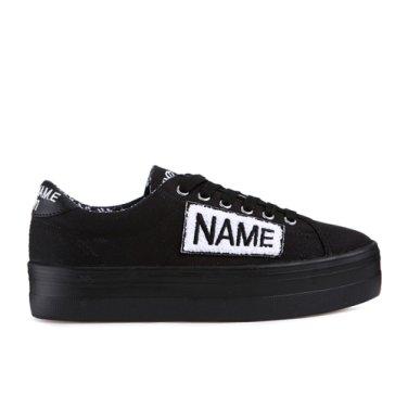NO NAME Plato Sneaker Twill/Patch(015)플라토 스니커 SNNF181TW04-015_EL