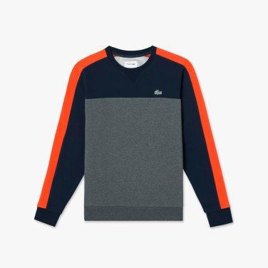 남성 컬러블록 라운드 스웨트셔츠  SH7643-19A_A1F