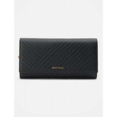 (여) 블랙 케이트 3단 장지갑 (BE91A4M715)