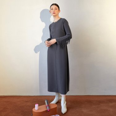 Ordu Arm Point Dress_Charcoal (JC19FWOP01C)