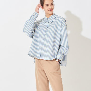 제인 박시 스트라이프 셔츠