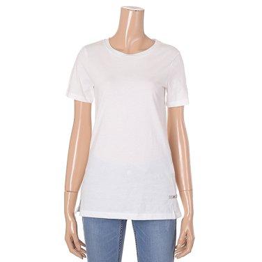 [여성]소매 포인트 자수 라운드넥 기본 티셔츠(T194MTS234W)