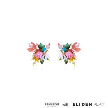 [피버리쉬] FLOWER BLAST SINGLE EARRINGS-MULTICOLOR (FB1E2)