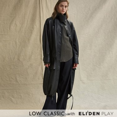 [로우클래식] 19FW LEATHER COAT_BLACK (Z3LCI6CT002.BK)