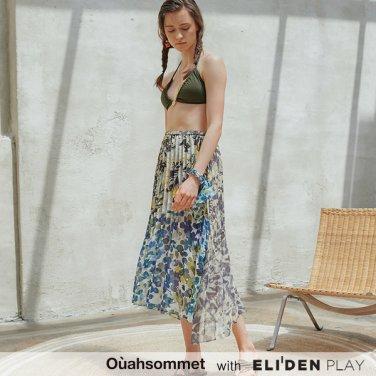 [우아솜메] Ouahsommet Multi Print Pleated Skirt_MU (OBFSK005A)