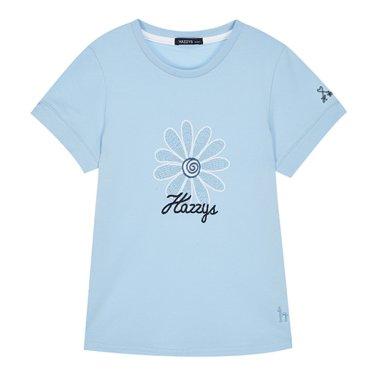 BU플라워 티셔츠(E_HPM11TR61M-BU)